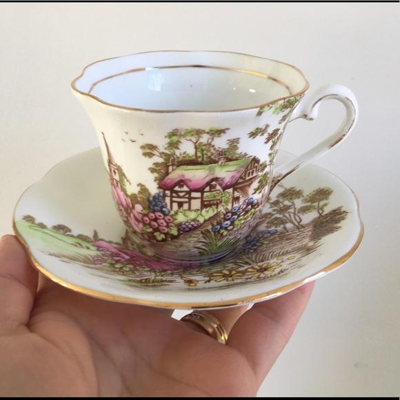 Taylor & Kent Longton England Cottage Tea Cup Set